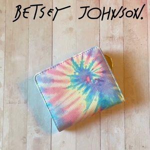 Betsey Johnson Rainbow Tie-dye Mini Wallet